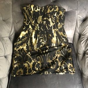 H & M baroque dress